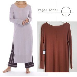 Paper Label Alexandria Side Slide Dress Hazelnut S